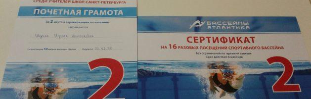 Соревнования по плаванию среди учителей Красносельского района Санкт-Петербурга