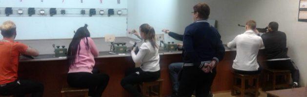 Соревнования по стрельбе из пневматической винтовки среди молодых специалистов Санкт-Петербурга
