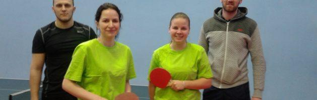 Выступление команды Красносельского района в соревнованиях по настольному теннису
