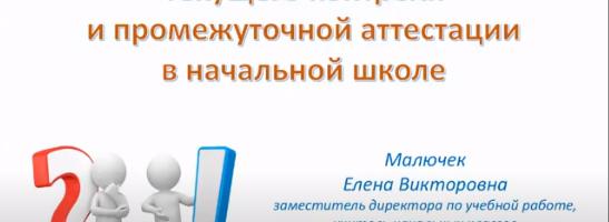 Городской семинар с использованием дистанционных технологий «Организация текущего и промежуточного контроля заместителем директора по УВР (начальная школа)»